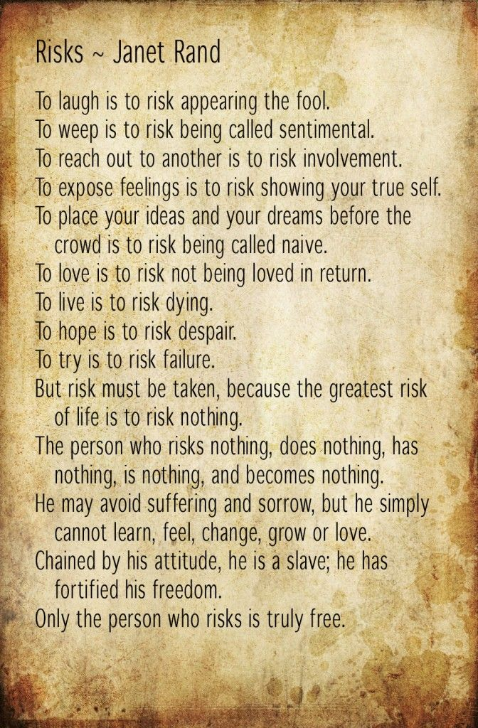 Risks by Janet Rand