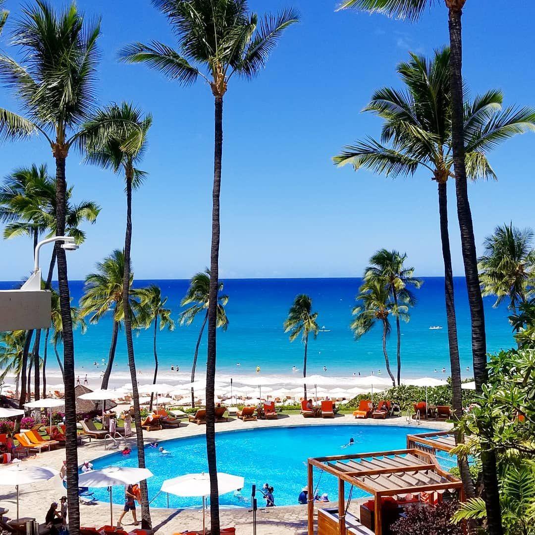 Pool And Beach View At Mauna Kea Beach Hotel Aloha Travel