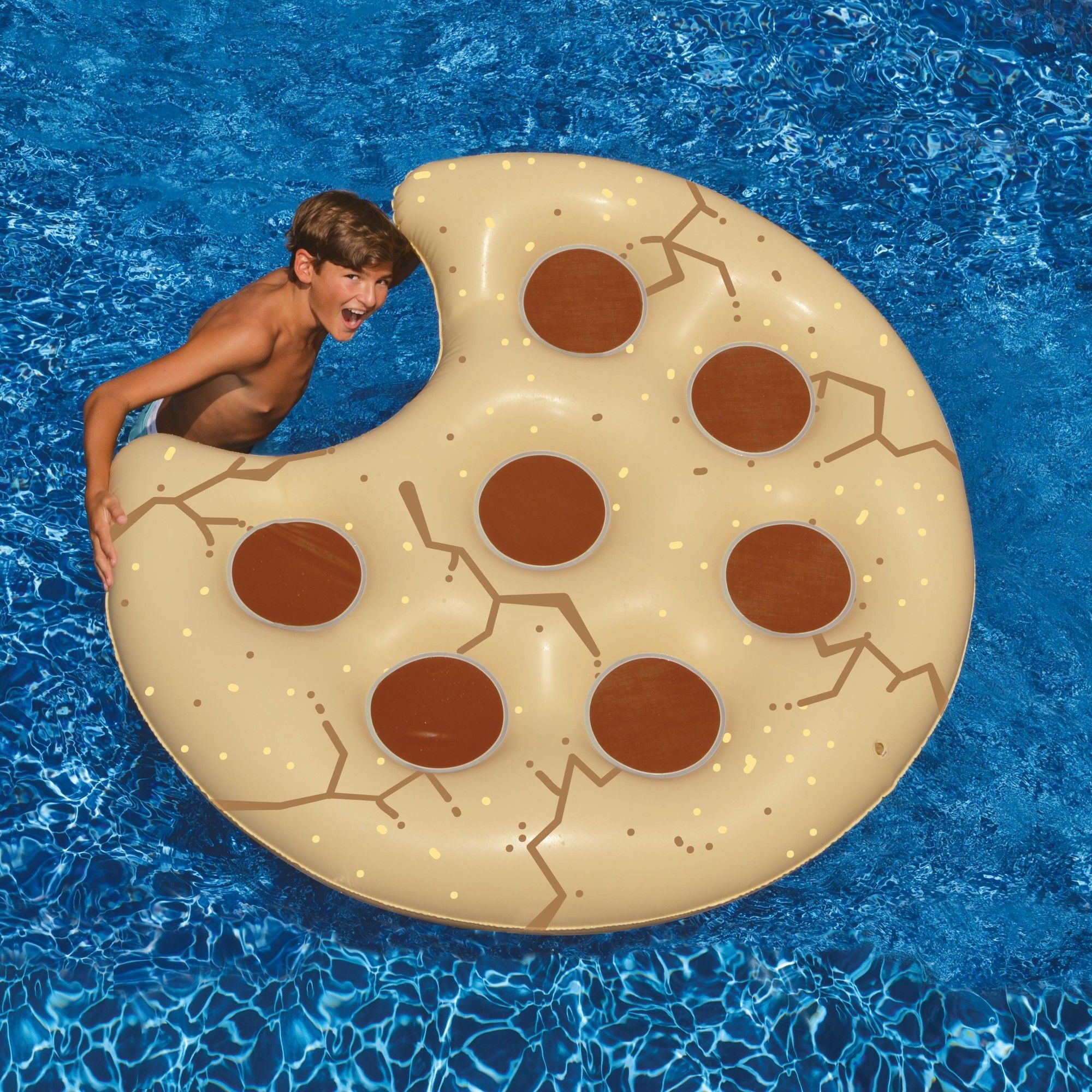 Poolzubehör Fun Cookie Pool Float Fun Inflatable Camping Cool Pool Floats