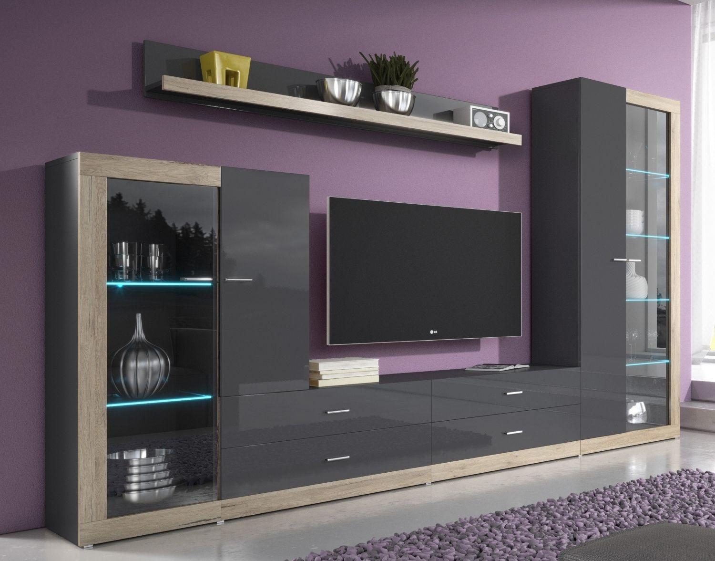 Modern Furniture For Living Room Srová Obývacia Stena Tariba 2