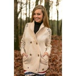 American Heart Cardigan-Wheat - $59.00