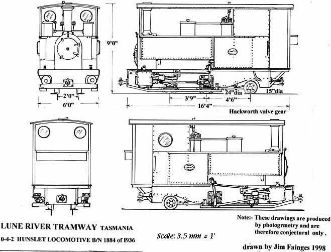 line drawing on30 rolling stock