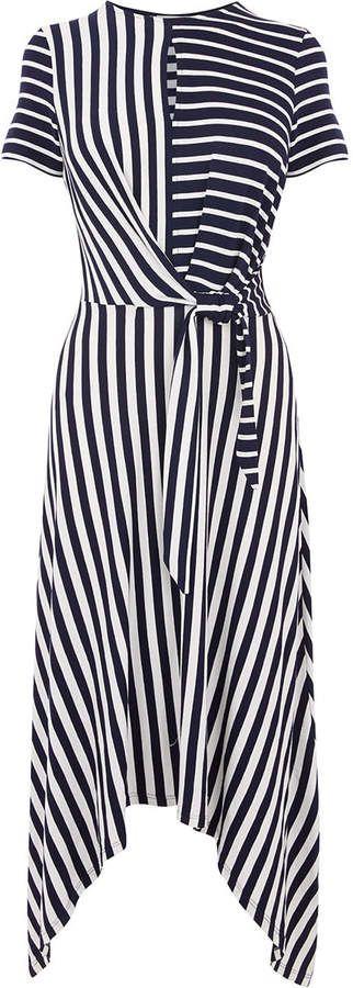 31bf5cac22d9 Oasis ASYMMETRIC STRIPE DRESS | Fashion | Oasis dress, Dresses ...