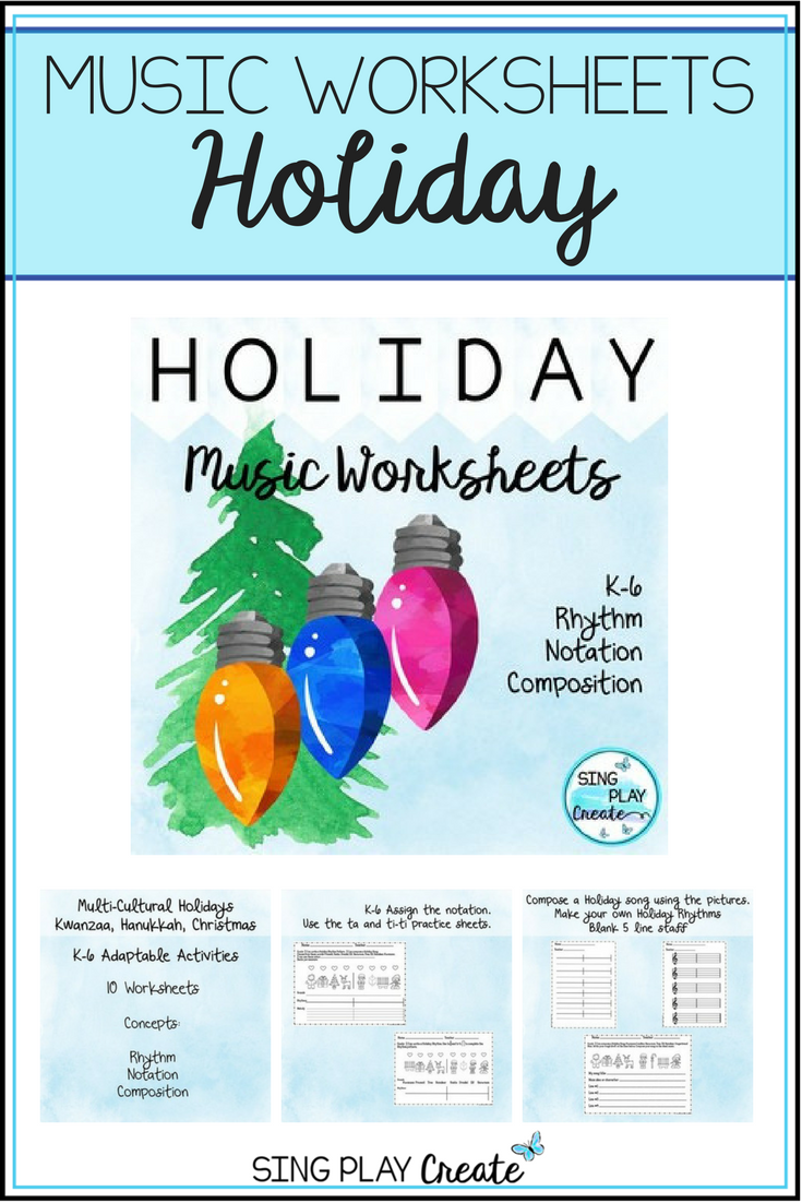 Holiday Music Class No Prep Composition Worksheets | Pinterest ...