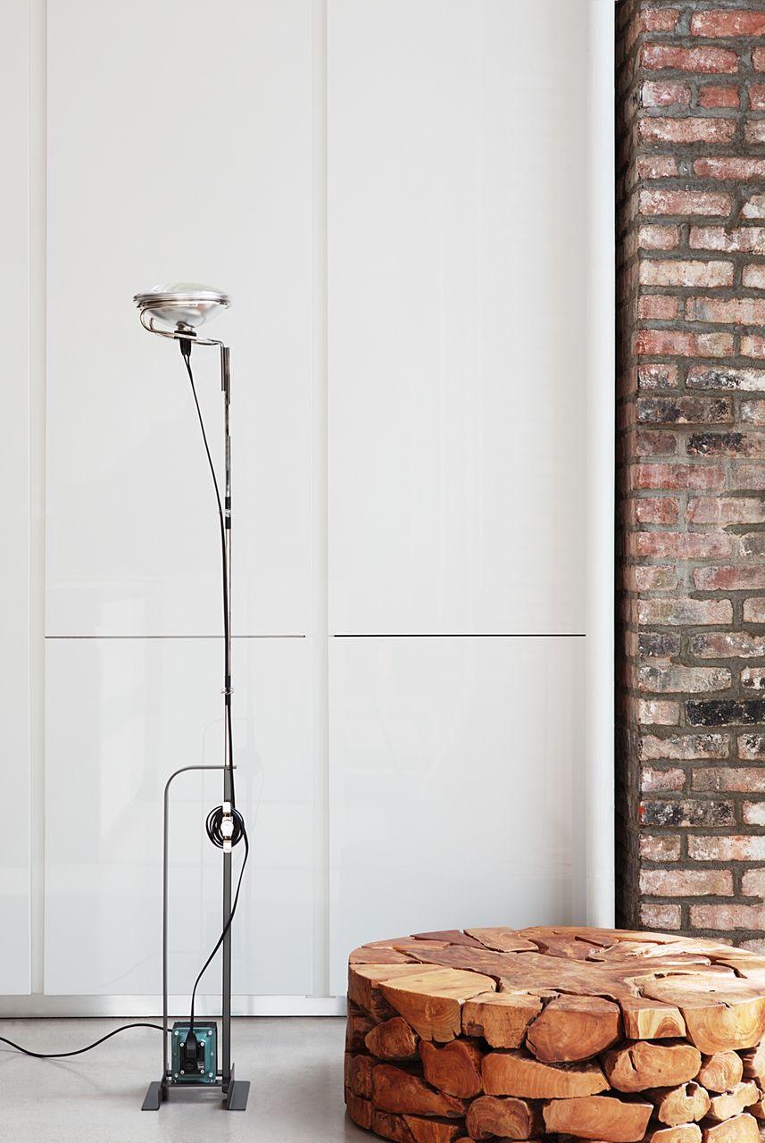 Toio Floor Lamp In Black Red Or White Modern Floor Lamps Modern Floor Lamp Design Floor Lamp