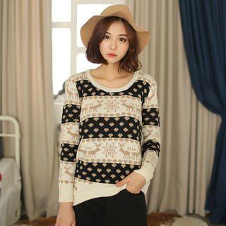 'Envy Look – Nordic-Pattern Sweater'