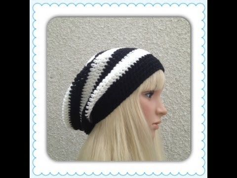 fdcd755eea8 In this video tutorial you will learn How to Crochet a Slouchy Hat ...