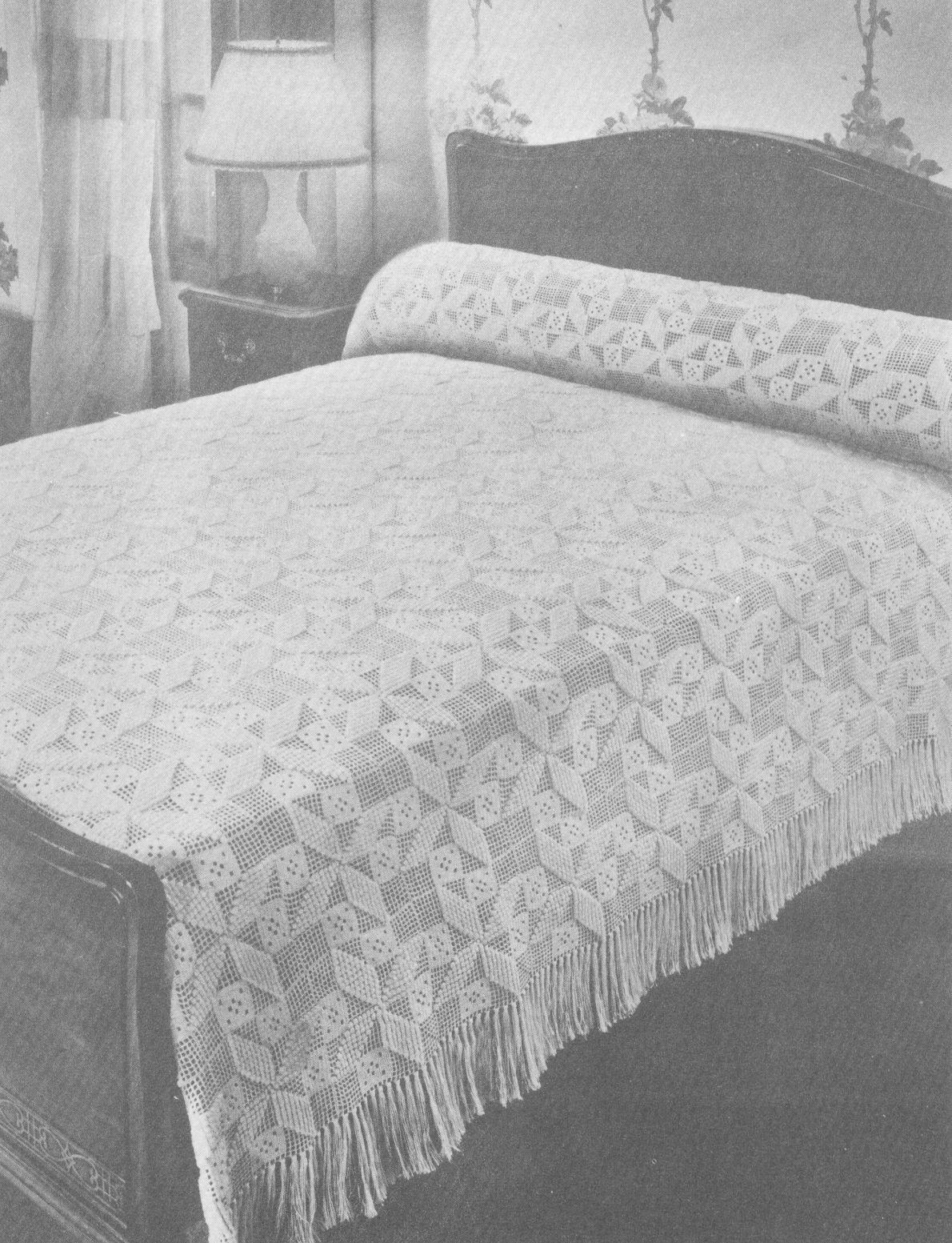 Free Crochet Patterns Dresser Runner   BED CROCHET PATTERN PINWHEEL ...
