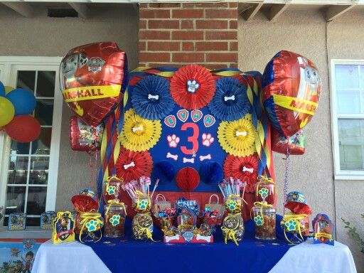 Paw Patrol Candy Buffet 3rd Birthday Party Autism