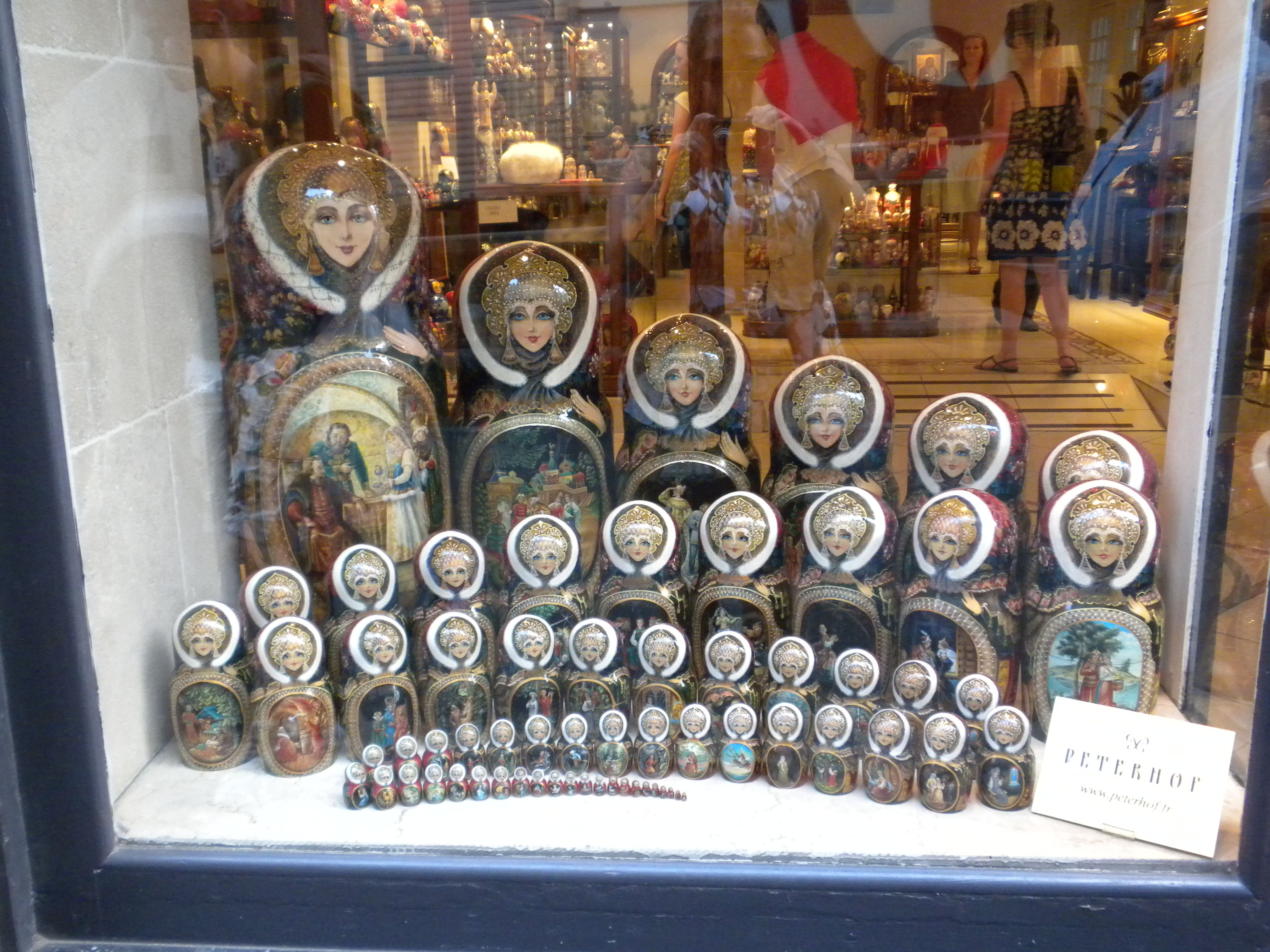 Matroyshka Dolls...there are 65 dolls in this set of dolls. You would be so pleased to see how much detail is actually in the smallest doll...bf