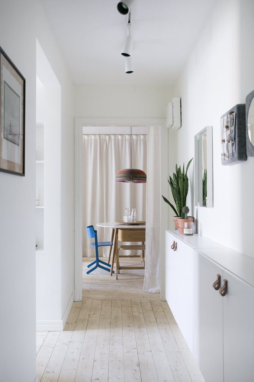 Narrow Hallway With Ikea Besta Cabinet More
