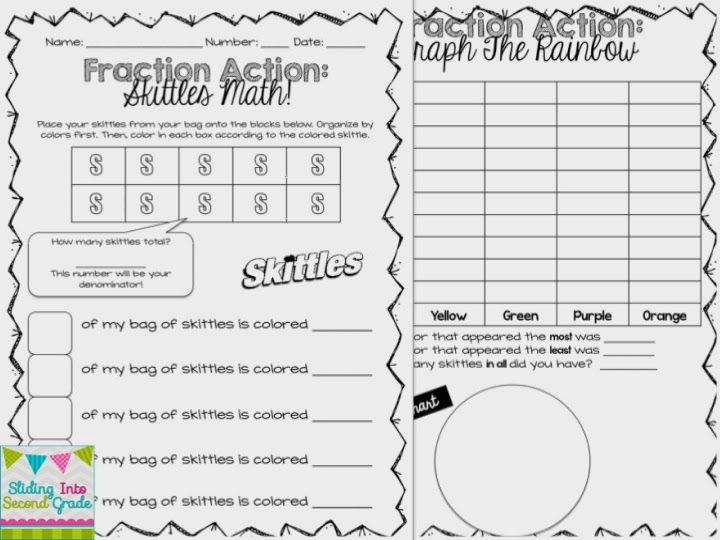 Sliding Into Second Grade: Fraction Math and Must Read
