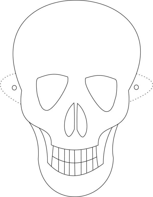 Scary Skeleton Mask Coloring Page Coloring Sky In 2020 Skull Coloring Pages Skeleton Mask Halloween Coloring Pages