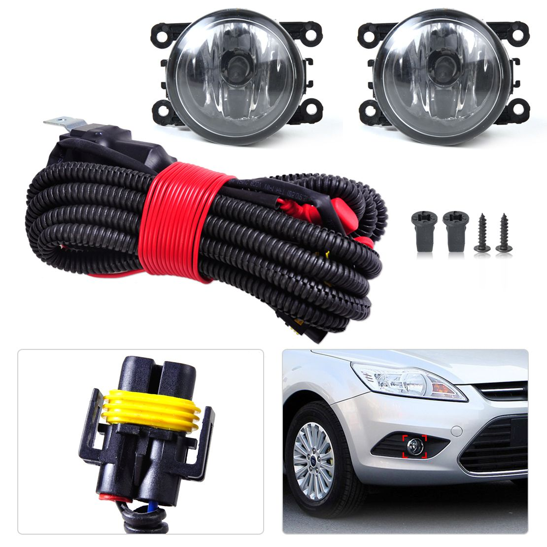 new h11 wiring harness sockets wire connector 2 fog lights lamp 4f9z 15200 aa for ford focus honda cr v pilot acura tsx nissan [ 1110 x 1110 Pixel ]