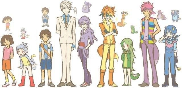 Dora characters redrawn in anime style! This is so cool!