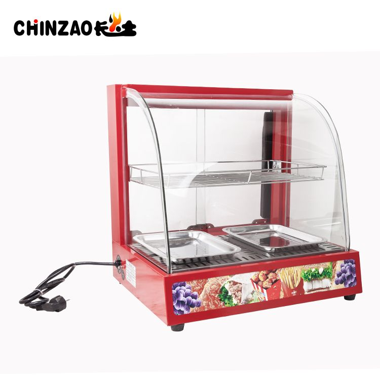 2 layer hot sale red tabletop food warmer heating showcase