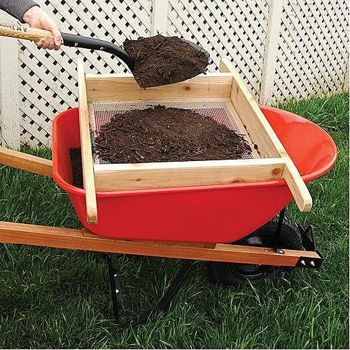 Wheelbarrow Sifter For Compost And Soil Garden Soil Garden