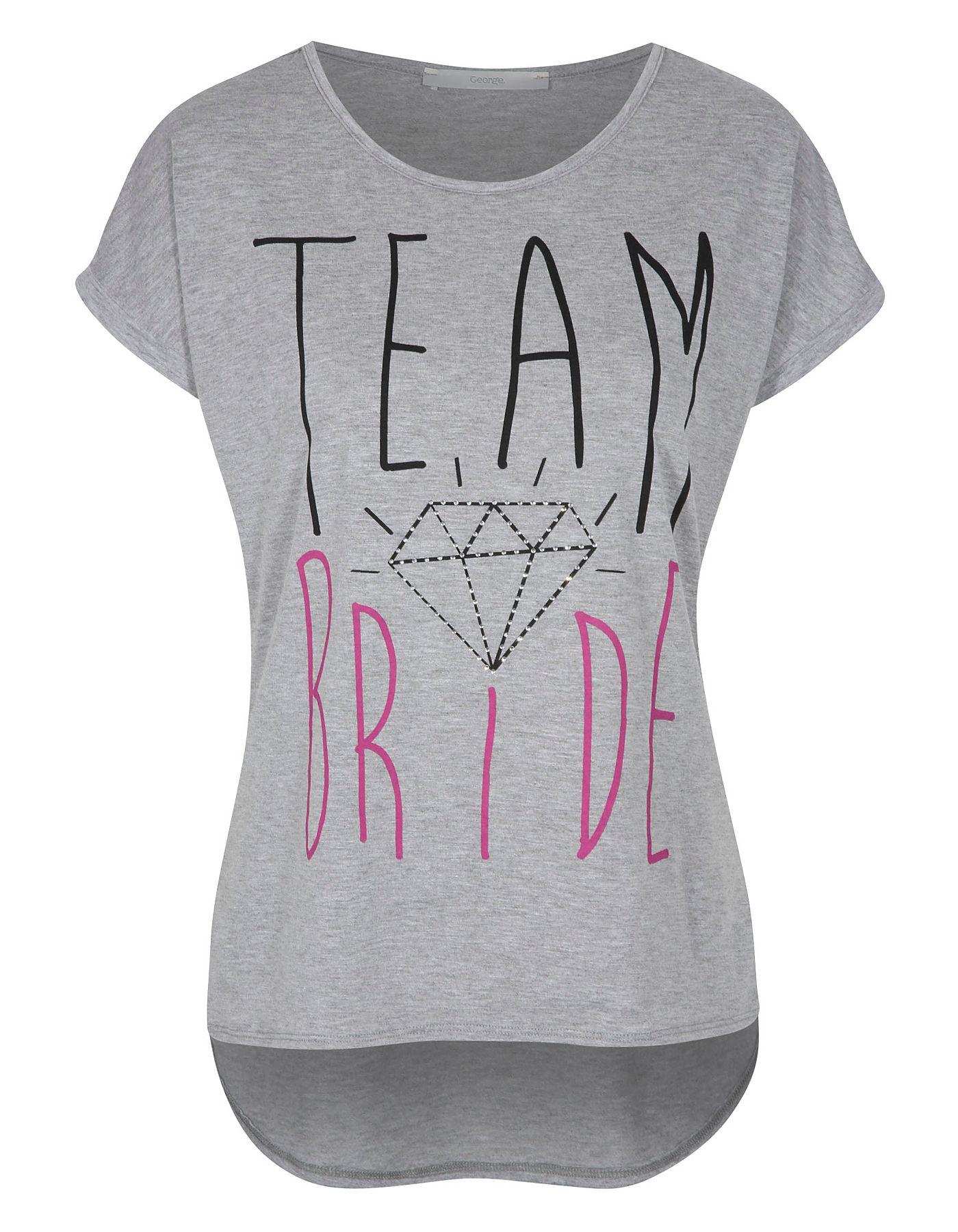 Team Bride Hen Party T-shirt | Women | George at ASDA | Wedding ...