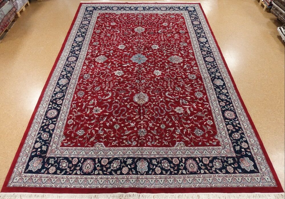 Hand Knotted Rug Number Maroon Ivory Blues Greens Yellow Browns Navy Coral Peach Border Color Navy Maroon Rugs On Carpet Area Carpet Oriental Rug