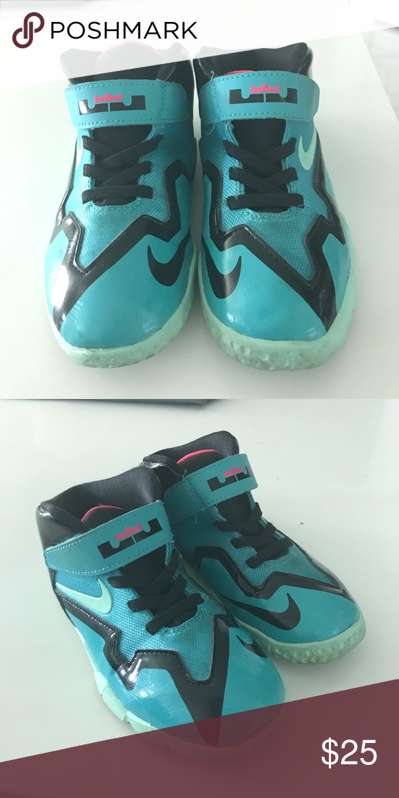 d403cdf4bdda Nike Lebron James basketball shoes Kids Lebron James size 10 gently used!  Beautiful Turquoise color Nike Shoes Sneakers