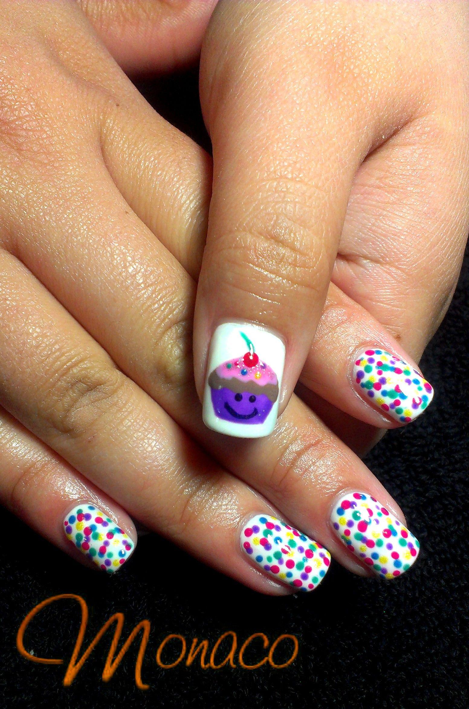 NailArt Love Cupcake Colourful Sprinkles
