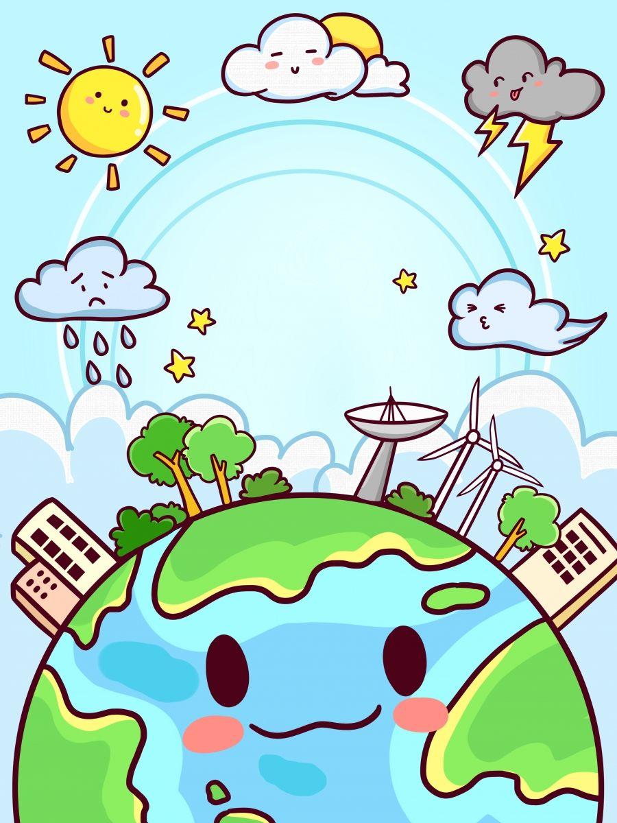 Hand Drawn Cartoon Weather Background Design in 2020   Background design,  Banner design, How to draw hands