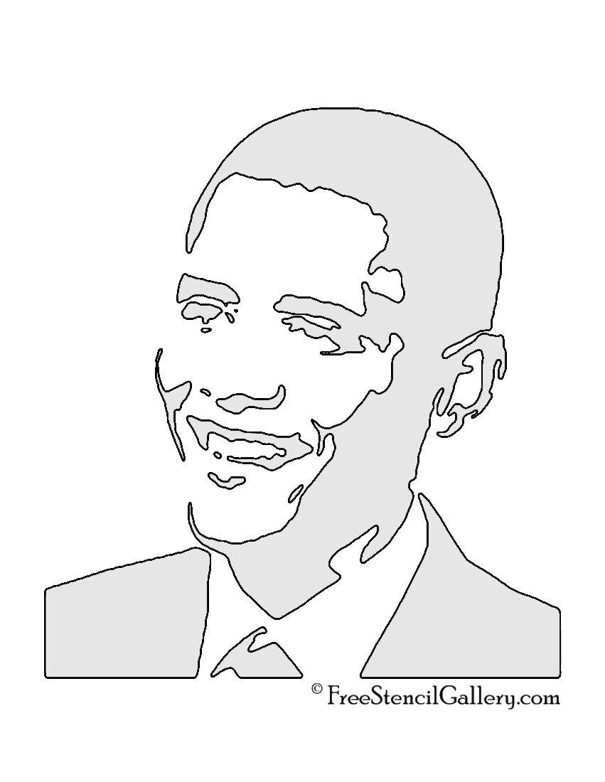 Barack Obama Stencil | Silhouettes | Pinterest