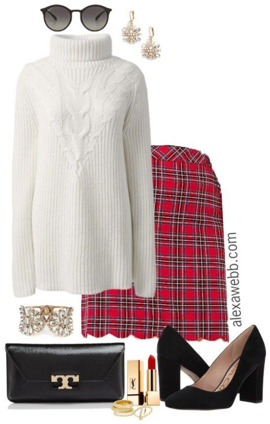2941b9bf20f5 Plus Size Holiday Plaid Outfit - Plus Size Christmas Outfit - Plus Size  Fashion for Women - alexawebb.com  alexawebb  plussize