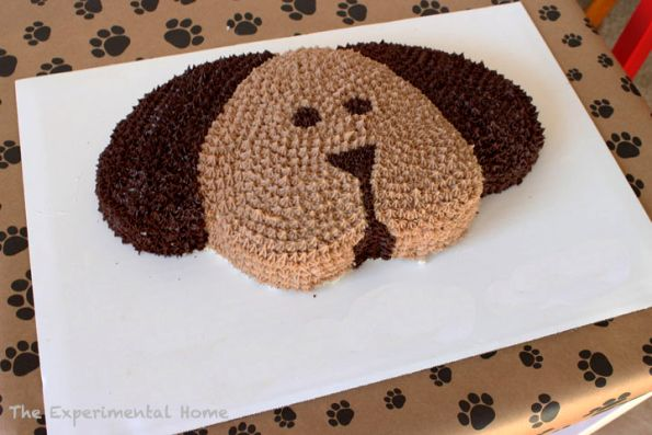 Dog Shaped Cake Tutorial Shared By The Experimental Home