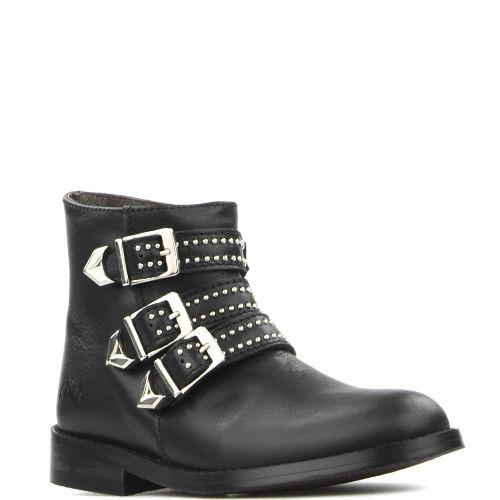 schnallen #schwarze #perlen #biker #boots #mit #undSchwarze