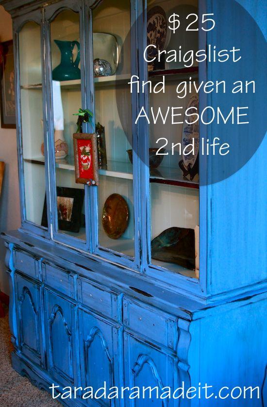 A Killer DIY Hutch Makeover 25 Craigslist Find Adorns Our Dining Room This Furniture