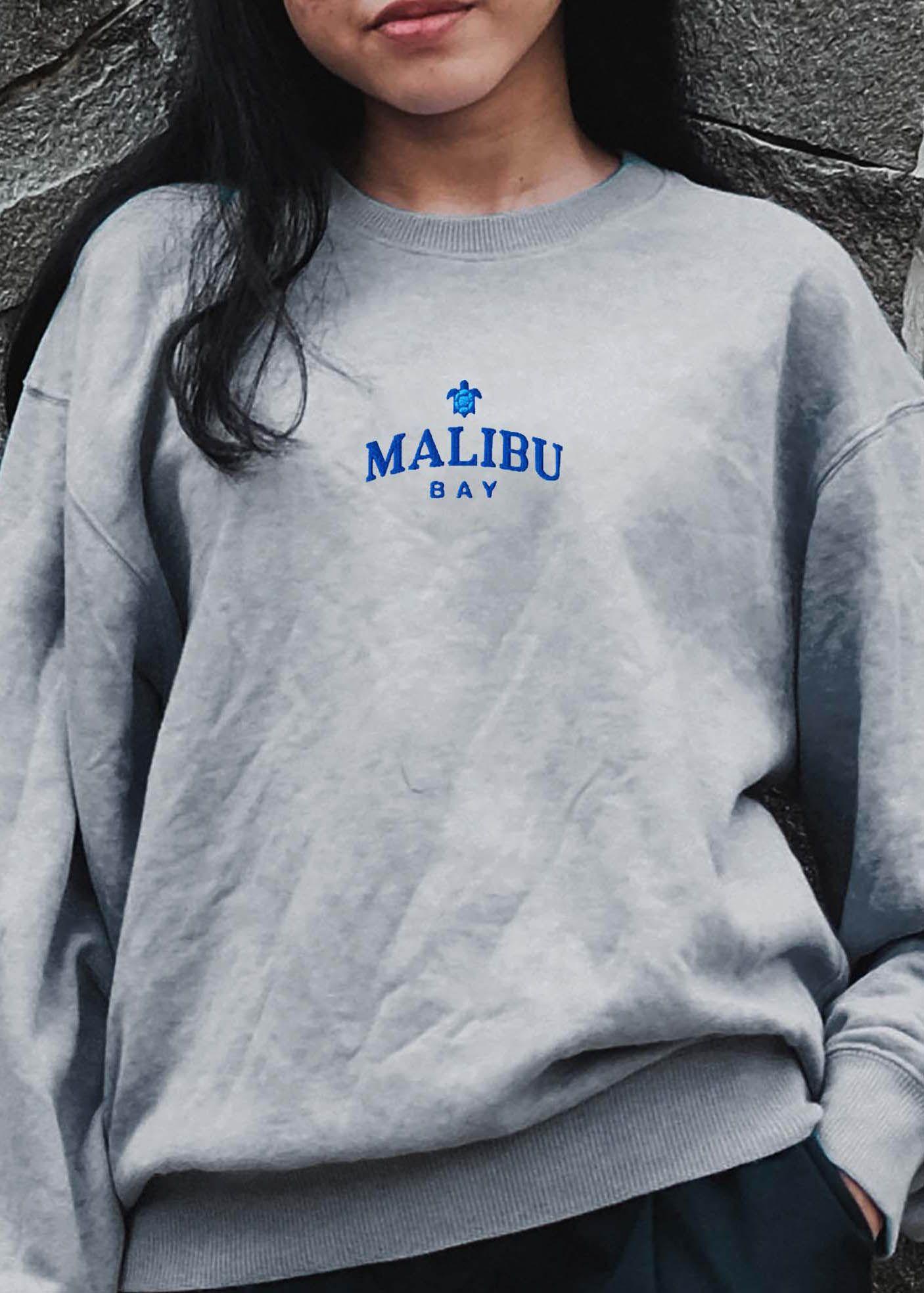 Malibu Sweatshirt Embroidered Crewneck Vintage Sweater Etsy In 2021 Embroidered Crewneck Sweatshirts Vintage Sweaters [ 1967 x 1406 Pixel ]