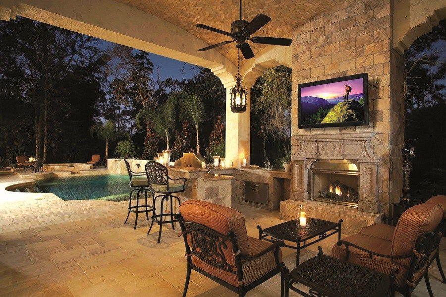 The 6 Best Outdoor Tvs 2017 Outer Audio Outdoor Living Design Outdoor Living Patio