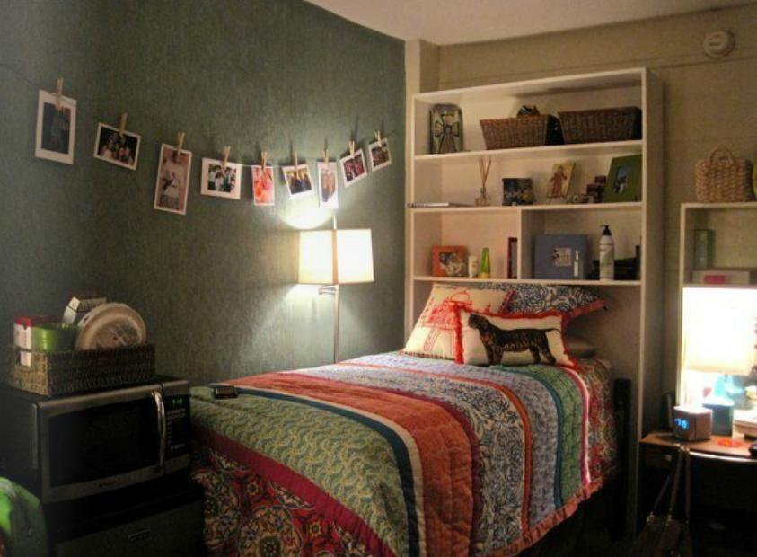 Via Pinterest Shelving Above Bed Or On Top Of Desk Dresser