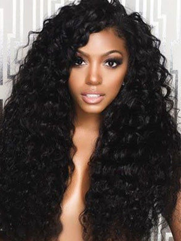 c70e6b5b6 Chinalacewig Brazilian Virgin Human Hair Deep Wave Best 360 Lace Wig With  Natural Hairline 360 Full Lace Wig CF187
