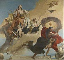 Giovanni Battista Tiepolo - Giovanni Battista Tiepolo - Juno and Luna, between 1735 and 1745
