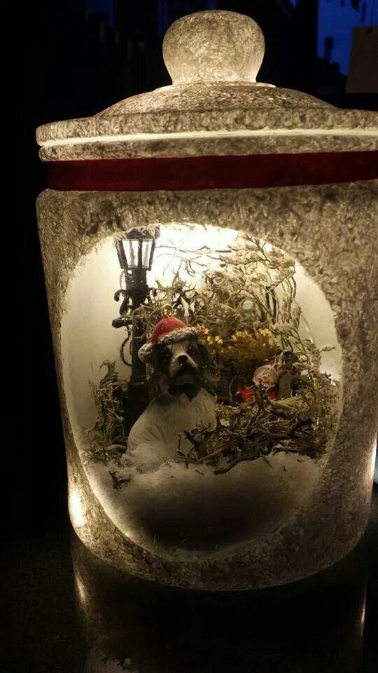 idee van Sylvia Hemme - wekpot - muurvuller - gesso - kerst ...