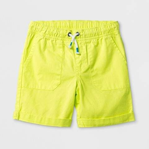 67a1d76288b Toddler Boys  Pull-On Shorts Yellow  drawstring shorts graphic ...