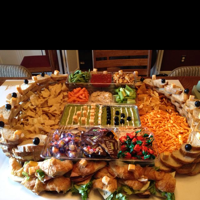 Super Bowl Stadium Snacks Superbowl Party Pinterest