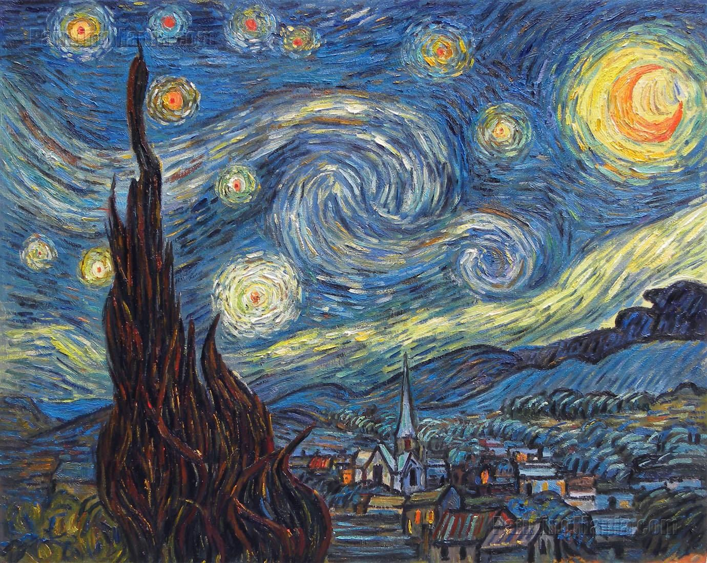 picture regarding Starry Night Printable titled Van+Gogh+Starry+Night time+Printable Starry,Starry Night time Gogh