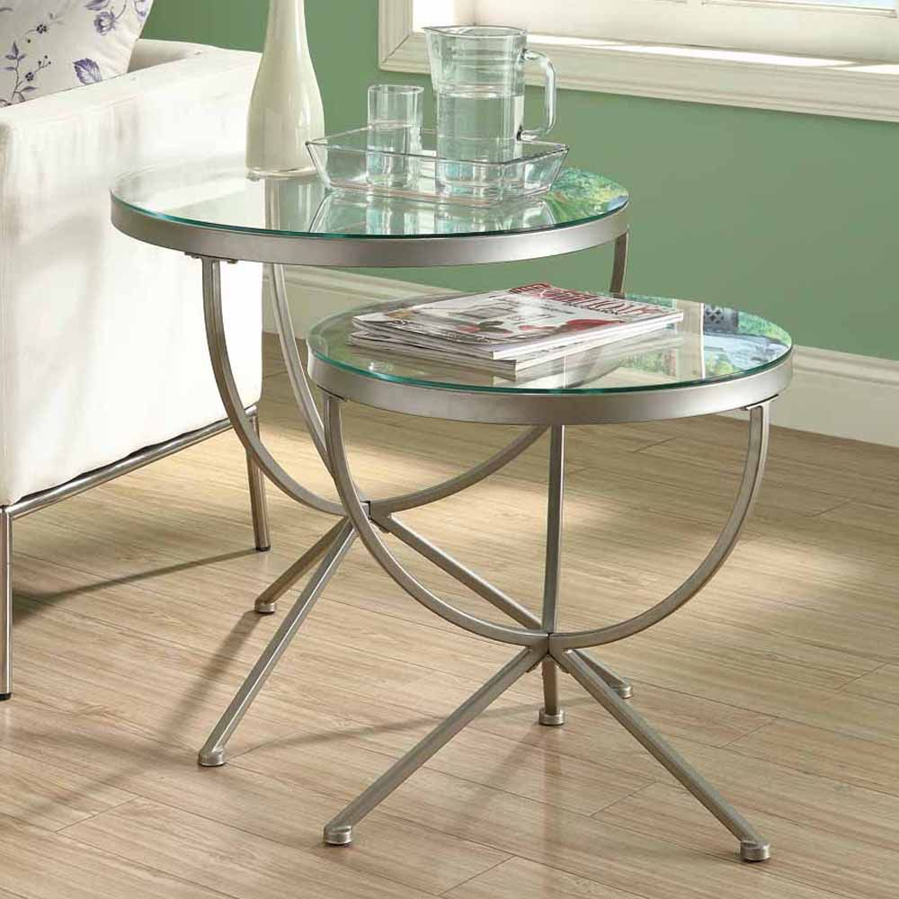 Silver Glass Coffee Table Uk: Round Nesting Tables. Stacking Coffee Tables Uk Addicts