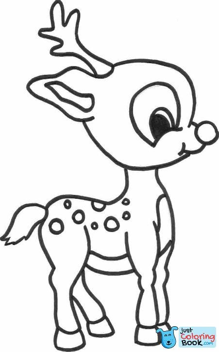 Cartoon Reindeer Coloring Pages Rudolph Coloring Pages Christmas Coloring Sheets Deer Coloring Pages