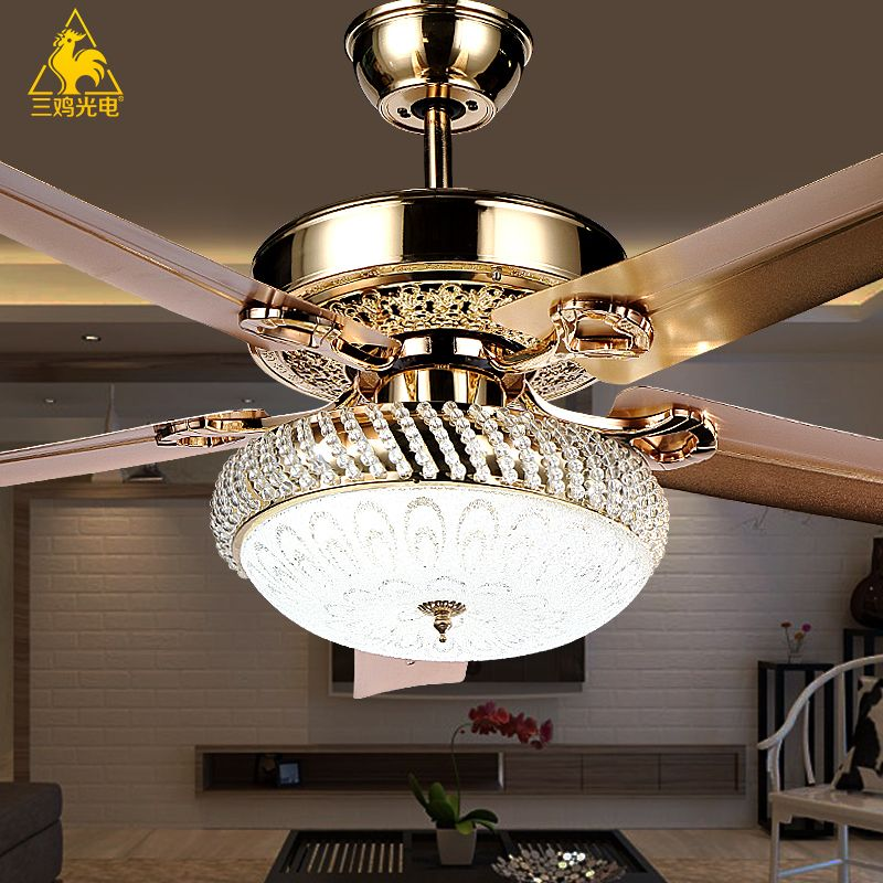 Three chicken photoelectric luxury decorative crystal chandeliers