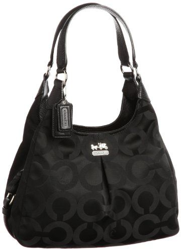 Coach Madison Op Art Maggie Satchel 21125 (Black Black Lizard) - List  price   298.00 Price   258.00 Saving   40.00 (13%) 15260b62b0728