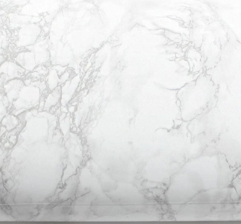 Coutertop Self Adhesive Kitchen Vinlyn Film White Marble Wallpaper Thick Granite