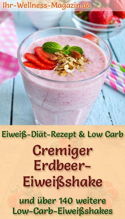 Erdbeer-Eiweißshake zum Abnehmen – Low-Carb-Eiweiß-Diät-Rezept