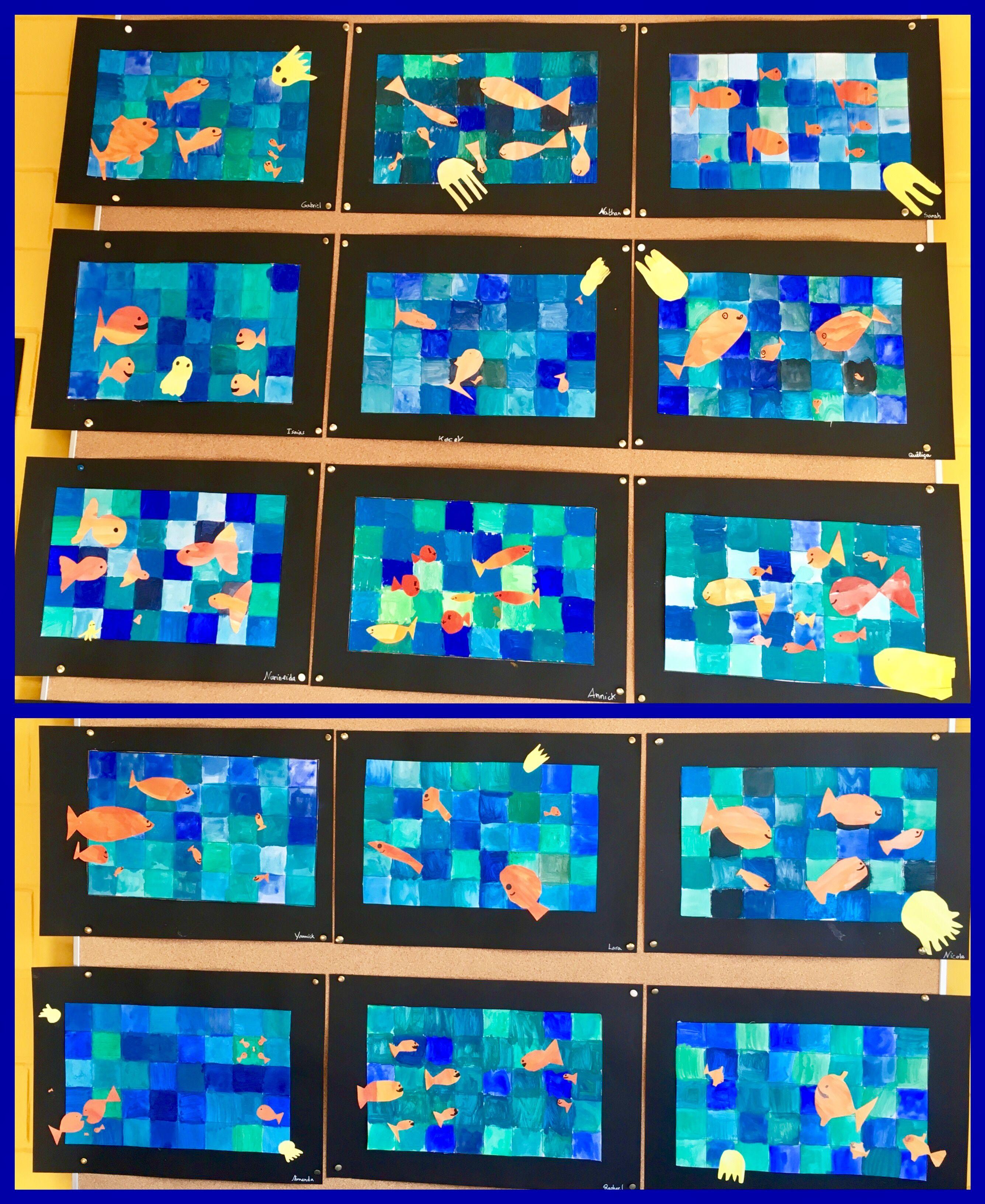 wasser hat viele farben kunstunterricht malen und basteln in der grundschule pinterest. Black Bedroom Furniture Sets. Home Design Ideas