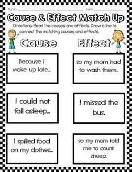 Effect Activities Worksheets
