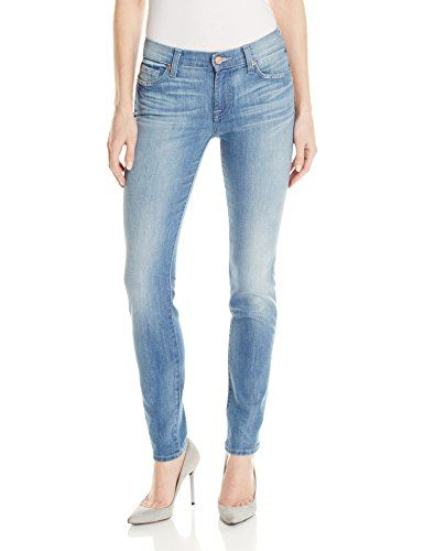 3a8333bd3c2 7 For All Mankind Womens Gwenevere Skinny Jean Bright Sky Blue 28 *** Learn  more by visiting the image link.(This is an Amazon affiliate link and I  receive ...