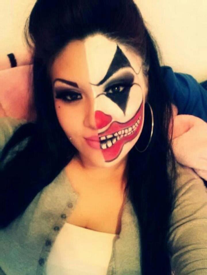 Crazy clown make up Make up ideas Pinterest Halloween makeup - clown ideas for halloween